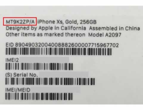 Model number ends with 'ZP/A' on box label